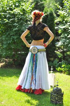 Belly Dance Tribal Gypsy Belt OOAK with Fantasy by DancingTribe