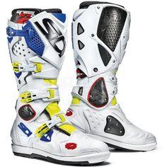 Sidi Crossfire2 SRS Motocross Boots - Flo Yellow White Blue UK 12 [Eu 47]