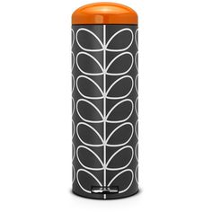 Brabantia Orla Kiely Retro Pedal Bin - Charcoal Linear Stem - 20L ($155) ❤ liked on Polyvore featuring grey