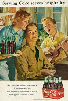 Vintage Coke/ Coca-Cola Advertisements of the (Page Coca Cola Poster, Coca Cola Ad, World Of Coca Cola, Coca Cola Bottles, Pepsi, Retro Ads, Vintage Advertisements, Vintage Ads, Vintage Posters