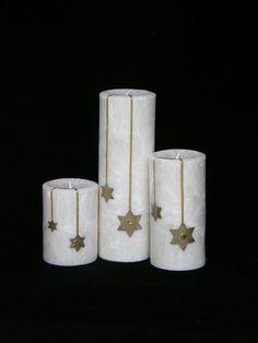 Kerzen & Beleuchtung - 16 WEIHNACHTSKERZE STERN +1DUFTWACHS GRATIS  - ein Designerstück von Candelita123 bei DaWanda