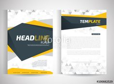 Vector: Report cover template for business presentation or brochure.