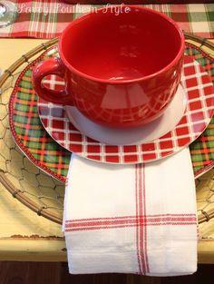 Plaid Christmas..Breakfast Table