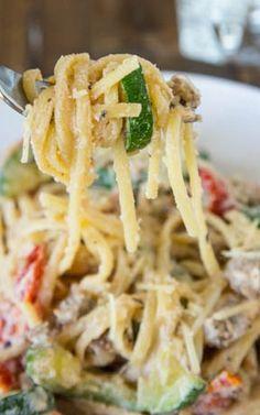 Creamy Zucchini, Tomato & Ricotta Pasta