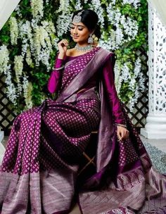 Pure kanchipuram silk sarees For Price Pls watspp to 8618577422 . Bridal Sarees South Indian, Bridal Silk Saree, Indian Bridal Outfits, Saree Wedding, Indian Wedding Sarees, Indian Bridal Fashion, Wedding Outfits, Kanjivaram Sarees Silk, Indian Silk Sarees