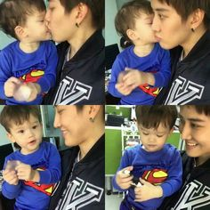 """Morning kiss  @m1keangelo #m1keangelo #maxwell #dadandson #lovely #moment #morning #haveaniceday #m1keangelo_interfanpage"""