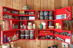 Looking for Storage and Utility and Garage ideas? Browse Storage and Utility and Garage images for decor, layout, furniture, and storage inspiration from HGTV. Organisation Hacks, Small Garage Organization, Easy Garage Storage, Tiny House Storage, Storage Hacks, Diy Storage, Home Organization, Storage Ideas, Cabinet Storage