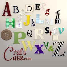 Custom made (and hand painted) wooden letters in any font and size - hundreds to choose from with tons of fonts!