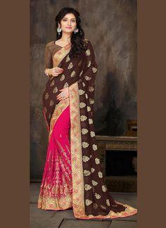 Buy online latest designer wedding sarees. Get free shipping worldwide.