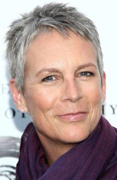 Grey hairstyles: Spikey Grey Pixie Cut