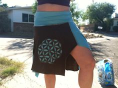 Sacred Geometry Flower of Life applique brown and by Earthtone