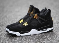 separation shoes c35c9 68b9f Air Jordan 4 Royalty Release Date. The Royalty Air Jordan 4 is a luxurious  version of the Air Jordan 4 releasing in February 2017 dressed in Black and  Gold.