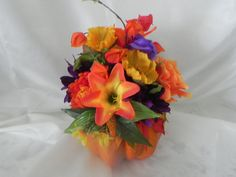 Fall centerpieces artificial pumpkins by BountifulBouquets on Etsy Silk Flower Centerpieces, Pumpkin Centerpieces, Wedding Centerpieces, Wedding Bouquets, Artificial Pumpkins, Shower Party, Silk Flowers, Vibrant Colors, Weddings