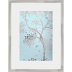 Latitude Run 'Metallic Tree I' Framed Graphic Art Print
