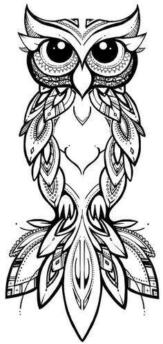 COCO illustration & design tribal owl owl tribal zentangle tattoo pattern linework is part of Owl tattoo - Owl Tattoo Design, Tattoo Designs, Tattoo Ideas, Owl Tattoo Drawings, Art Drawings, Tattoo Owl, Tribal Owl Tattoos, Tattoo Outline Drawing, Cute Owl Tattoo