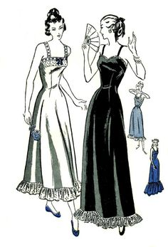 1940s Slip Camisole Petticoat Vintage Sewing Pattern Butterick 4595 £17.24  Size 18 Bust 36 do i need a 40s slip to go under my 40s dress?