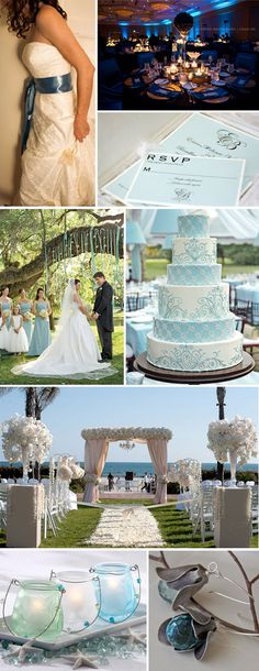 More blue and white wedding bliss