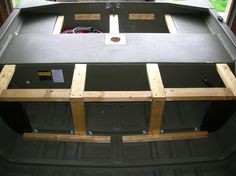 Jon Boat Modification - Support braces (rear deck/livewell compartment) - Slideshow View