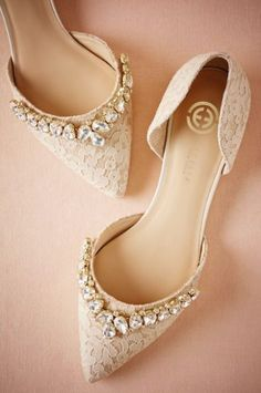 Featured Shoes: BHLDN; Wedding shoes idea. #weddingshoes