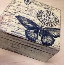 Feel the Scrap Decoupage Box, Decoupage Vintage, Vintage Crafts, Altered Cigar Boxes, Diy And Crafts, Arts And Crafts, Girls Jewelry Box, Diy Accessoires, World Crafts