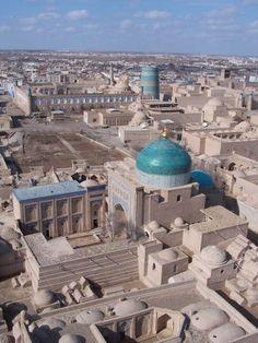 View of Khiva from Hodja Minaret | Uzbekistan