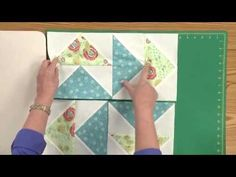 Sew Easy Lesson: Crazy Pieced Blocks - YouTube