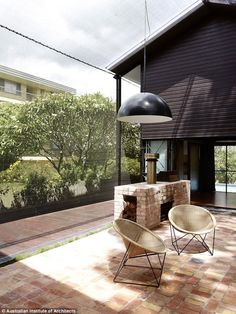 The courtyard of the property, which Mr Russell said was the house's main feature...
