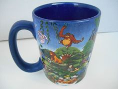 Walt Disney World Authentic Original Pixar Parks Blue Mug Cup Coffee Tea Largwe