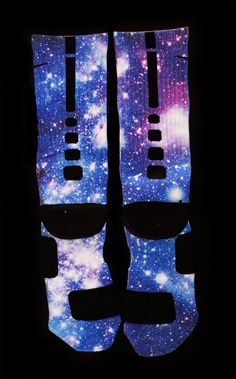 """Moon Man"" Galaxy Elites - Custom Nike Elite Socks -"