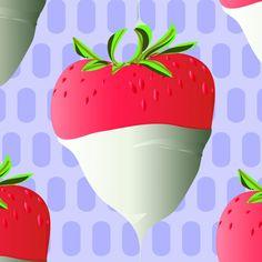 White Choc Dipped Heart Strawberries - Printed Village