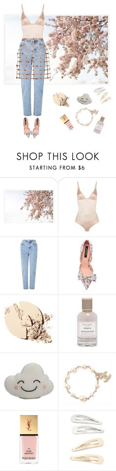 """""""The Birdcage Skirt with jeans"""" by katyakomarovaofficial on Polyvore featuring Pottery Barn, La Perla, Miss Selfridge, Rochas, Henri Bendel, Chanel, Yves Saint Laurent and Kitsch"""