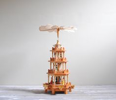 Vintage German Christmas Pyramid  4 Tier by LittleDogVintage, $98.00