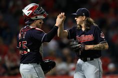 The Cleveland Indians took care of business against the Los Angeles Angels by a score of marking the third straight victory since a loss to the Kansas City Royals ended the team's winning streak. Basketball Uniforms, Basketball Games, Baseball Records, Indians Baseball, Kansas City Royals, Cleveland Indians, Motorcycle Jacket, Sports, Jackets