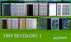 Sims 4 CC's - The Best: Window and Door Recolors by pqSim4