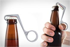 Kebo is a one handed bottle opener with a unique design