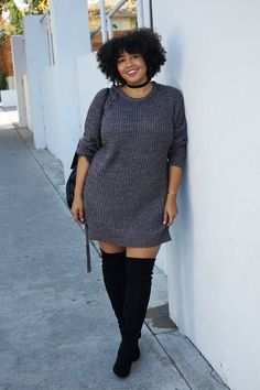 Winter outfits fall outfits thanksgiving outfit t. September Outfits, Outfits Plus Size, Curvy Girl Outfits, Black Girl Fashion, Curvy Fashion, Womens Fashion, Ladies Fashion, Fall Fashion Trends, Autumn Fashion