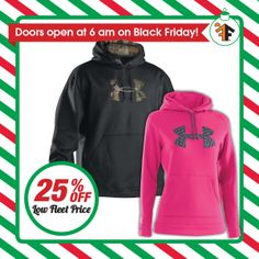 25% OFF Low Fleet Price- Under Armour- Men's & Ladies' Tackle Twill Hoodies! Sale $48.74. Colors may vary by store (while supply lasts) | Mills #FleetFarm promotion effective Friday, November 29 & Saturday, November 30, 2013! http://fleetfarm.shoplocal.com