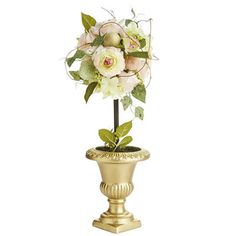 There's nothing ordinary about an enchanted Easter. Even traditional topiaries become magical. Who knew, for example, that a golden, Grecian-style urn could burst forth with roses, lilies and glittering Easter eggs? Pier 1, that's who. And now, you do, too.