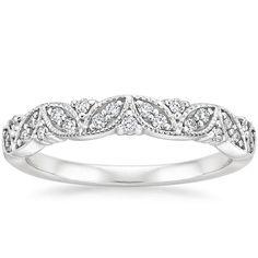 Florette Diamond Wedding Ring - 18K White Gold