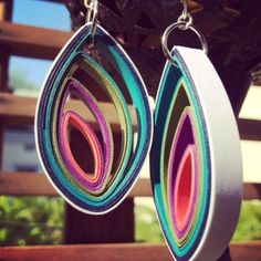 Modern Paper Earrings - Bud #1st-anniversary-gift #bridesmaids-gifts #earrings