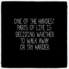 One of the hardest parts of life...