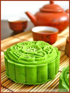 Macha Snowskin Mooncakes by bossacafez, via Flickr