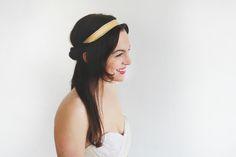 Alyssa Gold Leather + Silk Headband | Kerry Ann Stokes #BohoBride