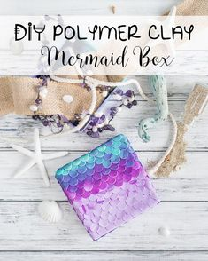 Follow this step-by-step tutorial for a #DIY polymer clay mermaid box. You can make this ombre mermaid scaled box for yourself or make it as a gift for one of your mermaid friends! Mermaid life is the best life :)
