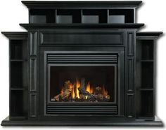 fire place mantel.