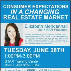 Excited To hear what one of the smartest ladies I know has to say about consumer expectations #axtulsa #tulsarealestate #tulsarealestateagent