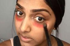 Video: verberg donkere kringen met lipstick