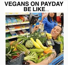 107 Vegan Memes that Everyone Can Laugh About – A Light and Fire I am not Vegan because I love animals, I just REALLY hate plants. Enjoy 107 memes about veganism that carnivores, omivores, and vegans can all laugh to. Funny Vegan Memes, Vegetarian Memes, Funny Memes, Jokes, Hilarious, Shake It Up, Steve O, Vegan Facts, Vegan Animals