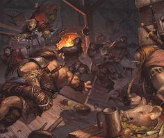 Celaena's tavern brawl, bit of distraction