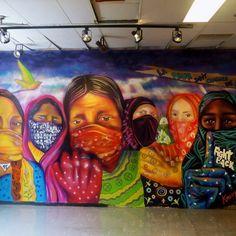 knorke leaf ~ por ellas, con ellas, para ellas* #knorke_leaf #montreal #canada #uqam #cafeaquin #montrealart #muralart #instagraffiti #womenstreetart #womenrisingup #urbanart #canart #ayotzinapa #mujerespintando #mujereszapatistas #autochtonewomen #cultmtl #mtlmurals #stopwomenviolence #unity #freedom #force #amour 9/2015